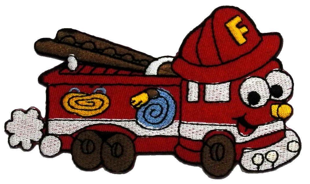 1068x634 Cute Cartoon Fire Engine Truck Retro Classic Diy Applique