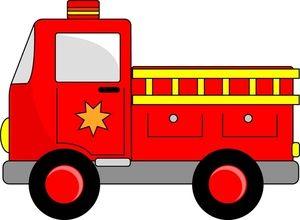 300x220 Fire Engine Clipart Image Cartoon Firetruck Creating Printables
