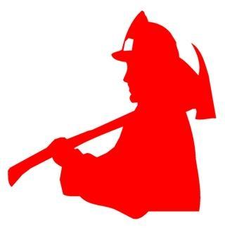 320x326 Fireman Silhouette 1 Decal Sticker