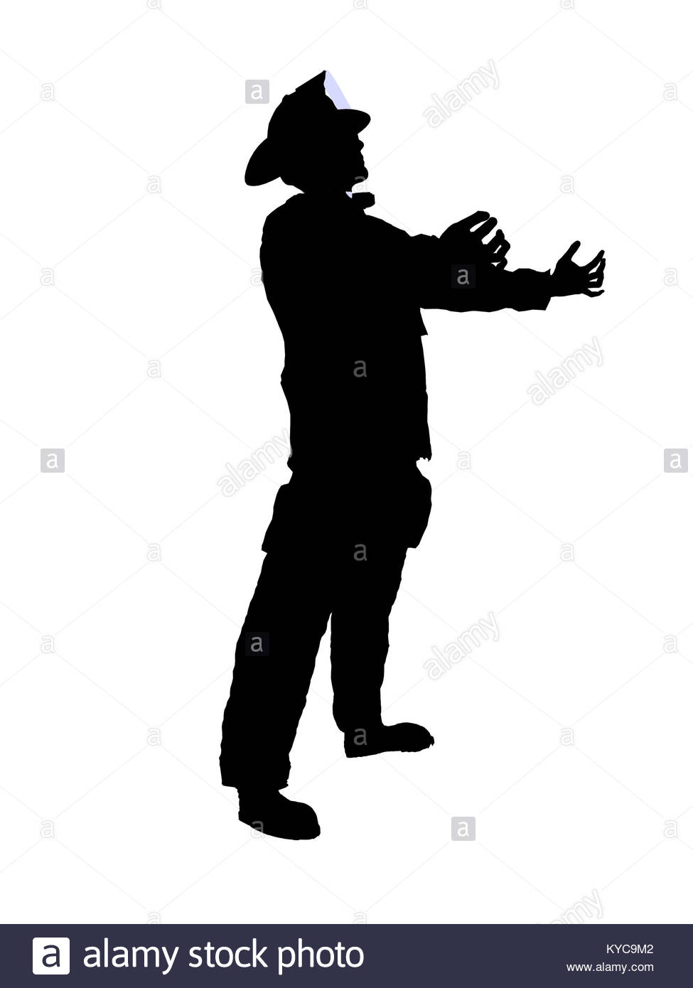 975x1390 Male Firefighter Illustration Silhouette Stock Photos Amp Male
