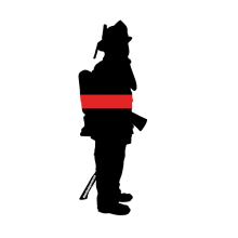 220x220 Thin Red Line Silhouette Decal Ms Carita