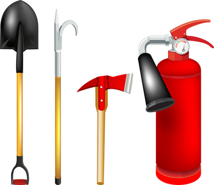 424x368 Firefighters Tools Free Vector Download (1,573 Free Vector)