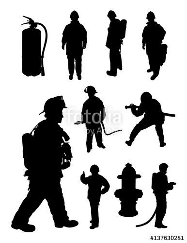 386x500 Fireman Gesture Silhouette. Good Use For Symbol, Logo, Web Icon
