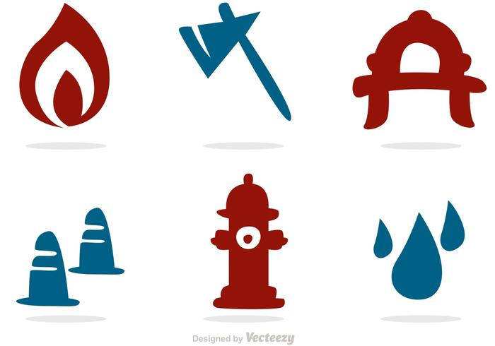 700x490 Silhouette Icons Fireman Vector Pack