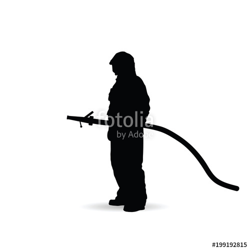 500x500 Fireman Silhouette Illustration Stock Image And Royalty Free