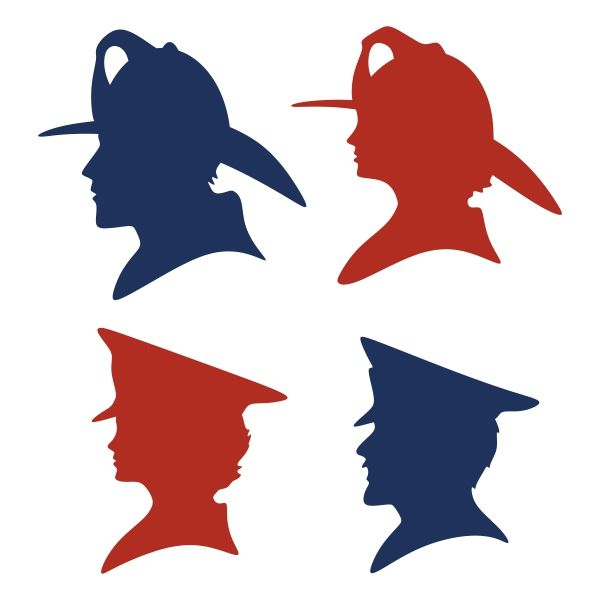 600x600 Firefighter Silhouette Cuttable Design Cut File. Vector, Clipart