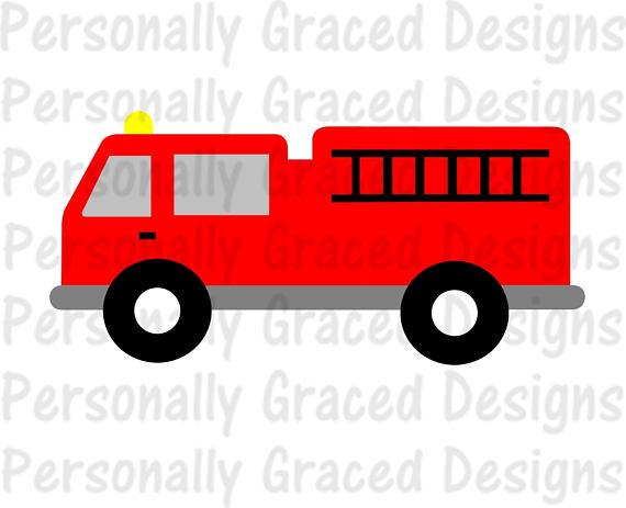 570x463 Svg Dxf Eps Cut File Firetruck Svg Fire Truck