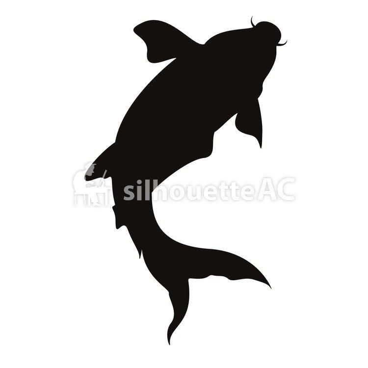 750x750 Free Silhouette Vector Bend, Come, Fish, Icon