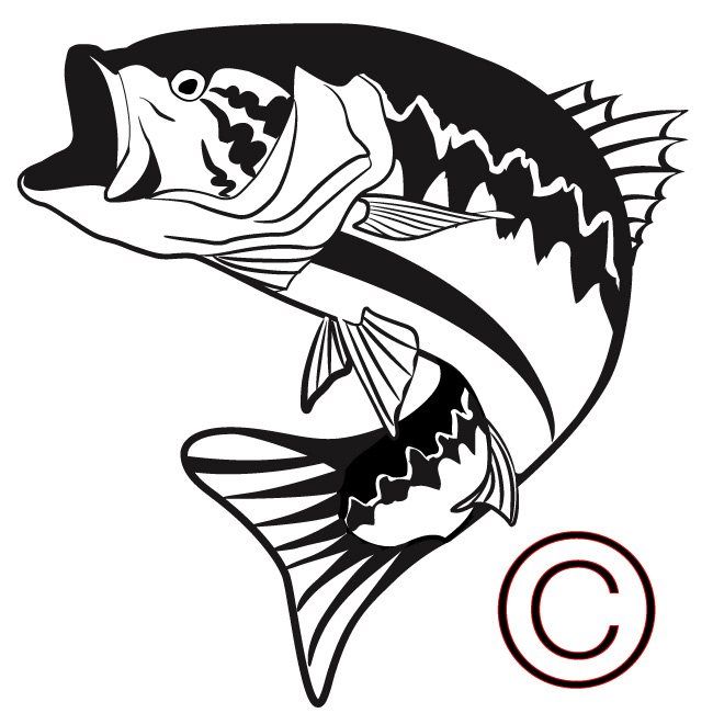 650x650 Jumping Fish Silhouette Clipart