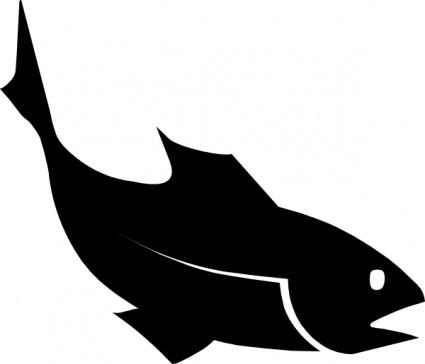 425x364 Fish Silhouette Free Clipart