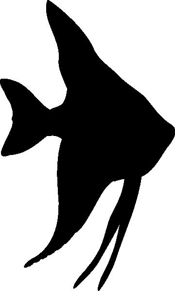 360x599 Angelfish Silhouette Clip Art