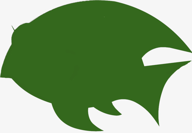 650x452 Cartoon Green Flat Fish Silhouette, Green, Fish, Sketch Png Image