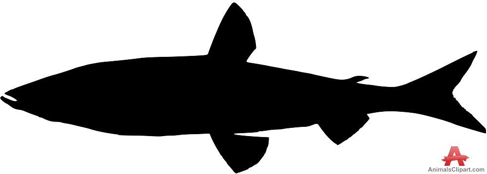 999x358 Long Fish Silhouette Free Clipart Design Download