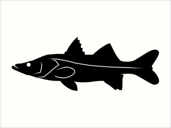 549x413 Snook Fish Silhouette (Black) Art Prints By Idrawsilhouettes
