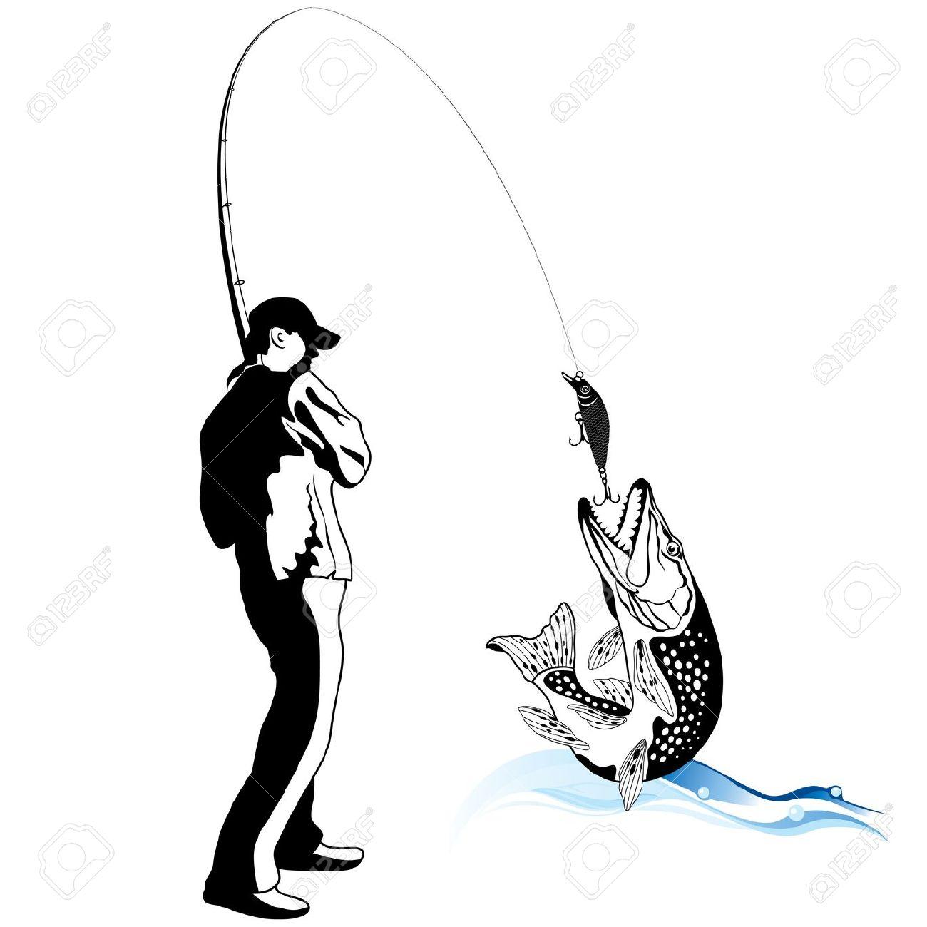 1300x1300 Fisherman Clipart Caught