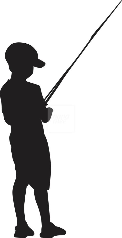 500x971 Fishing Clipart Silhouette