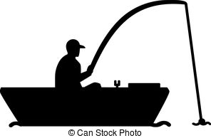 296x194 Fishing Silhouette. Fisherman Caught A Fish Silhouette Vector Clip