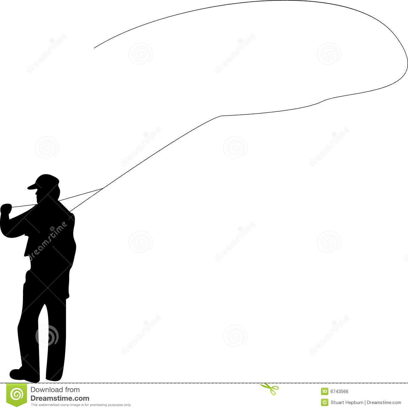 1300x1310 Man Fishing Silhouette Clipart