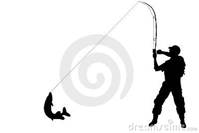 400x267 Silhouette Fisherman Clipart