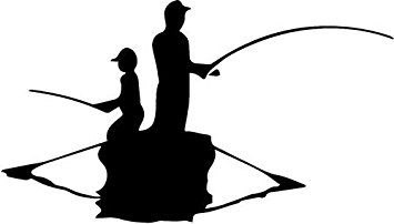 355x202 Father Son Fishing Boat Vinyl Decal Sticker 20 Wide
