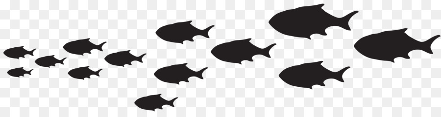 900x240 Fish Shoaling And Schooling Silhouette Clip Art