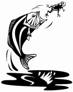 236x297 Fish In Water Clip Art Fishing Boat Silhouette Clip Art