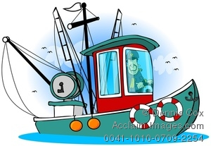 300x207 Fishing Boat Clipart Shrimp Boat 3533354