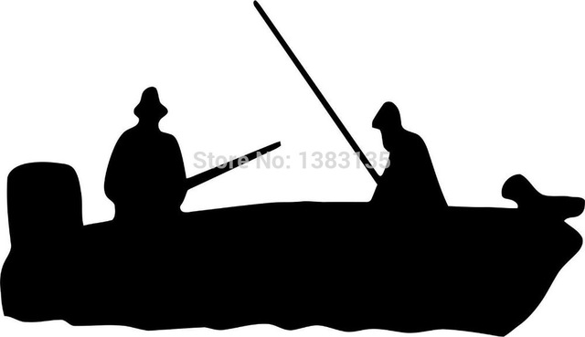 640x369 Hot Sale Fishing Boat Vector Image Car Sticker For Truck Window