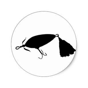 307x307 Fish Silhouette Stickers Zazzle