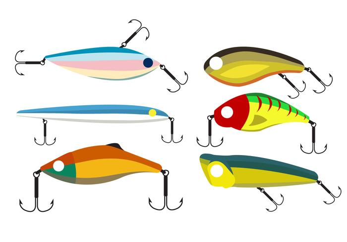 700x490 Vector Set Of Fishing Lures