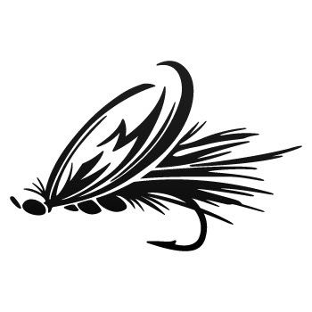 350x350 Fly Fishing Window Decals