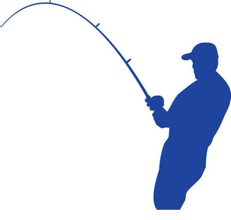 450x430 Bent Fishing Rod Clipart
