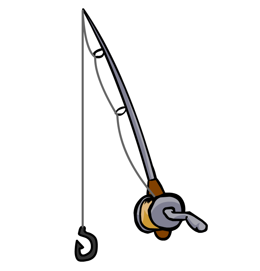 875x911 Fishing Rod Clipart Black And White