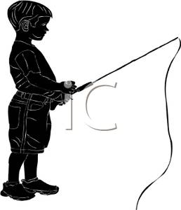 258x300 Silhouette Of A Boy Holding A Fishing Pole