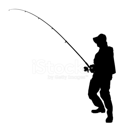 413x440 Vector Of A Fisherman Holding Fishing Pole Stock Vector