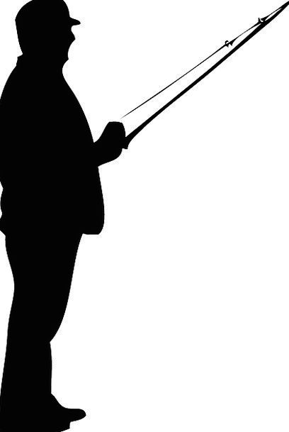 408x609 Fisherman, Outline, Fishing, Angling, Silhouette, Hobby, Rod, Bar