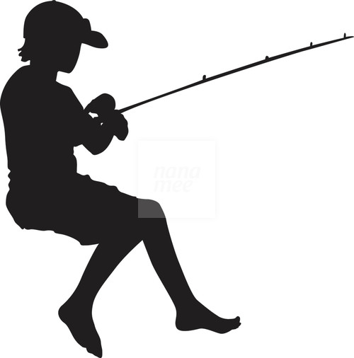 500x506 Fishing Clipart Silhouette