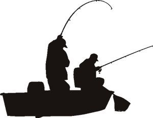 300x232 Fishing Pole Silhouette
