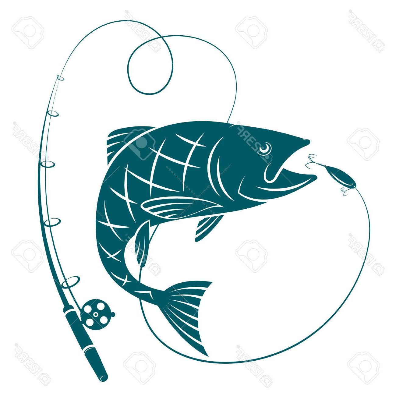 1300x1300 Top 10 Fish And Fishing Rod Silhouettes For Sport Drawing