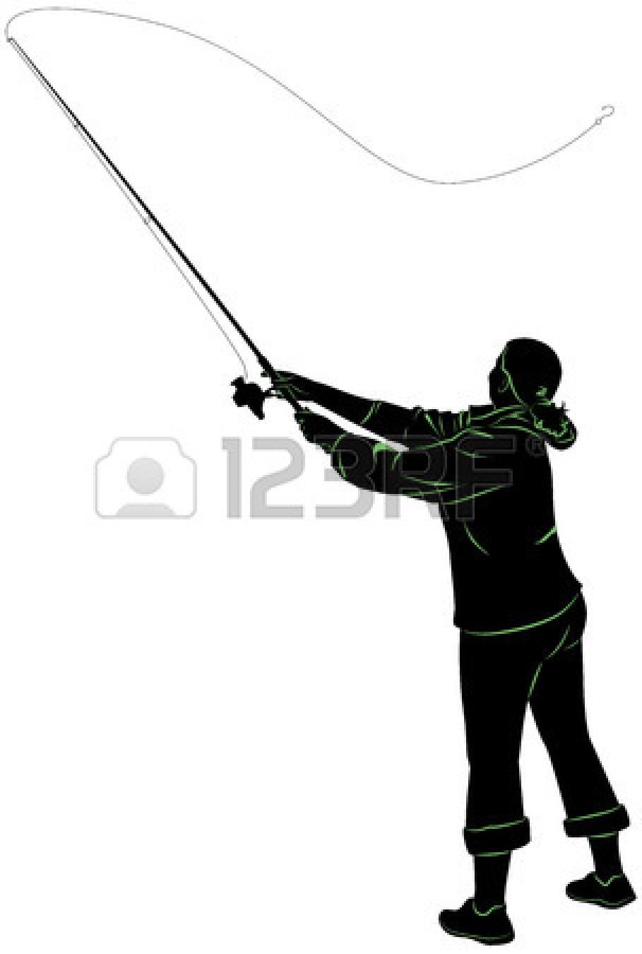 909x1350 Fishing Pole Silhouette Clipart Panda