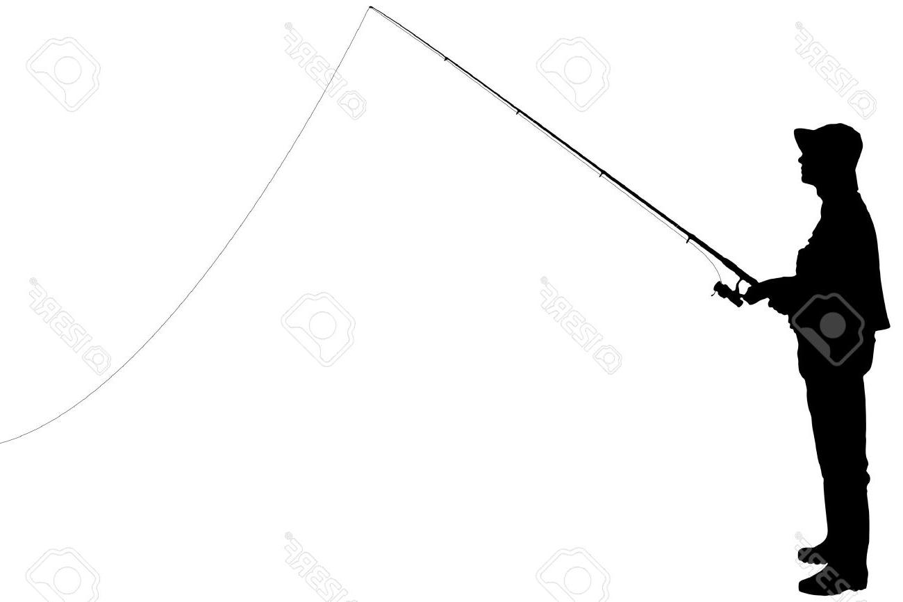 1300x866 Fishing Rod Clipart Silhouette