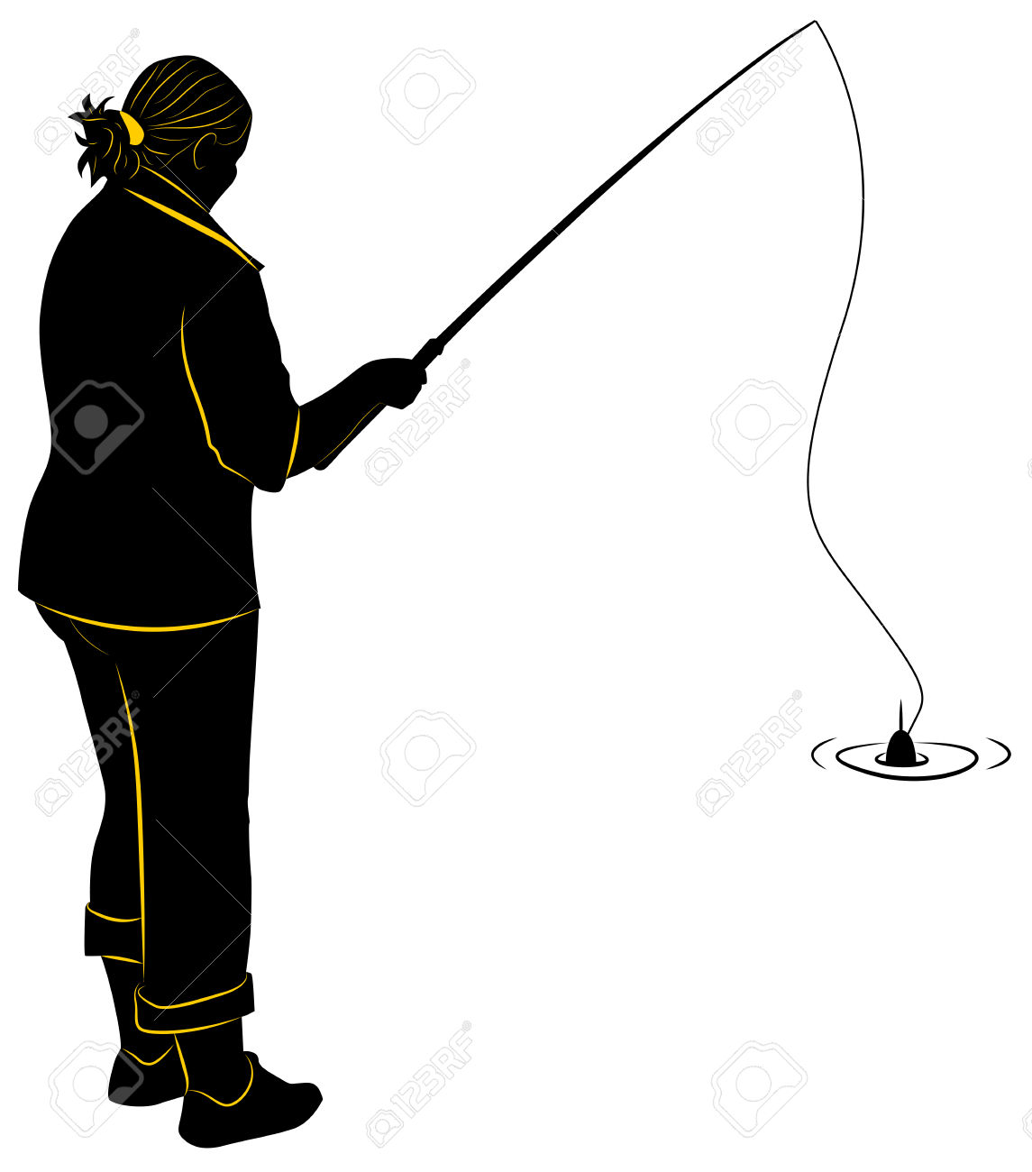 1145x1300 Fishing Silhouette Clipart