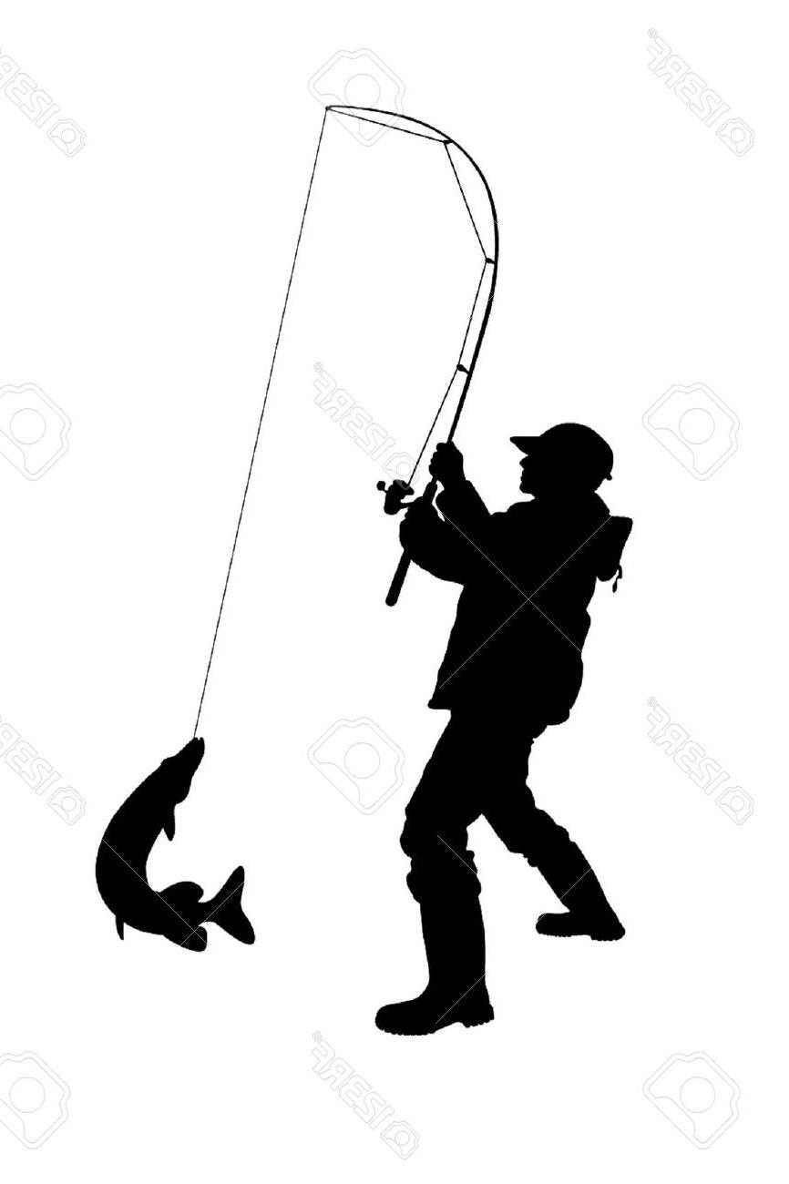 866x1300 Fisherman Silhouette Vectors