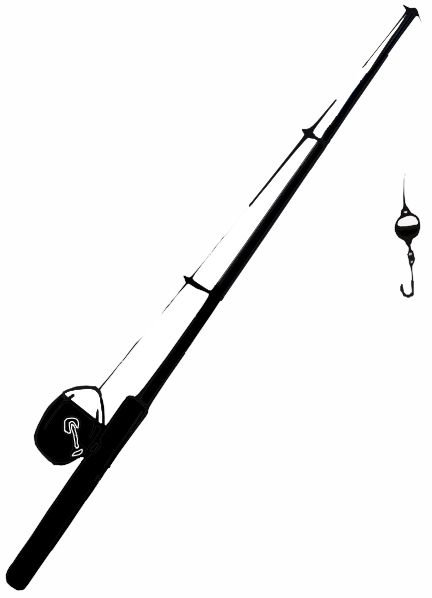 432x598 Fishing Rod Clipart Silhouette