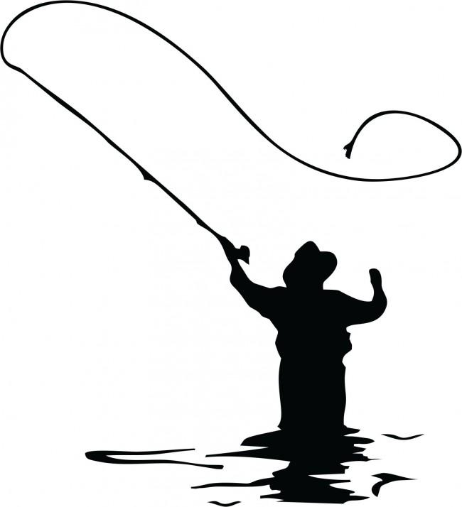 650x714 Free Alaska Fishing Silhouette Clipart