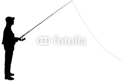 400x267 Man Fishing Silhouette Clipart