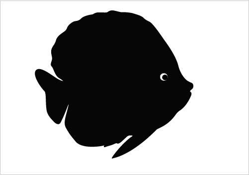 501x352 Clip Art Of Fish Silhouette Black Free