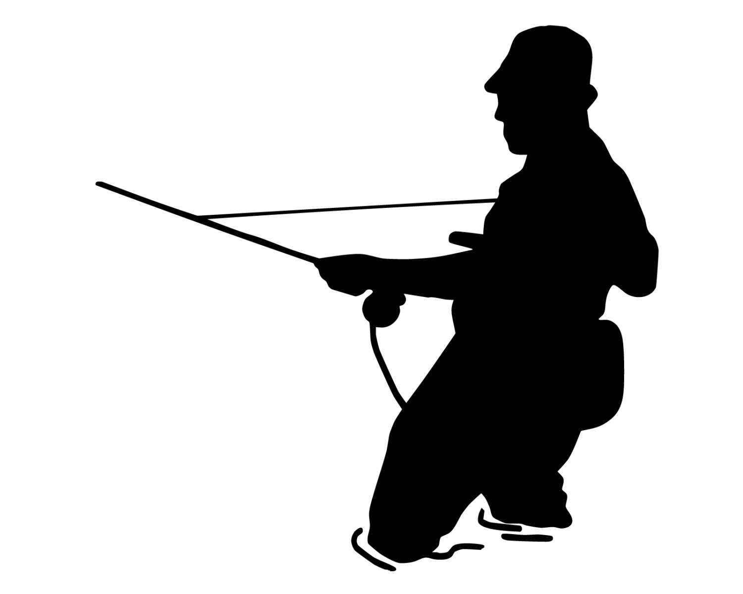 1500x1200 Fly Fishing Silhouette Clipart. Fly Fisherman Silhouette Royalty