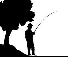 236x196 Man Fishing Silhouette Vector Graphics