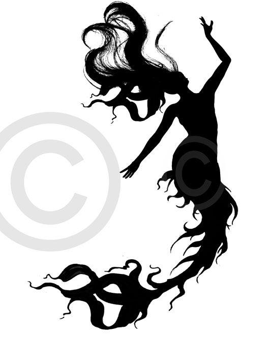 533x663 47 Best Mermaid Silhouette Tattoo Images On Mermaids